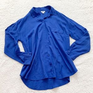 Splendid royal blue collared pocket button down